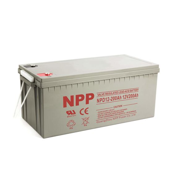 Npp Npd12-200ah 200ah 12volt Maintenance Free Deep Cycle Sealed Lead Acid Rechargeable Storage Battery for off-Grid Solar System, RV, Marine, Boat, UPS