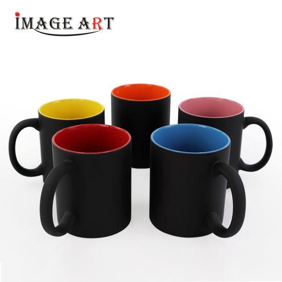 11oz Sublimation Mug Inner Color Magic Color Change Mug Ceramic Mug (Matte)