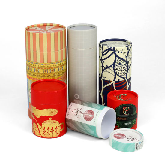 Firstsail Manufacturer Recycled Round Push up Tube Gift Cylinder Packaging Boxes for Cosmetic Towel Souvenir Toy Eyebrow Pencil
