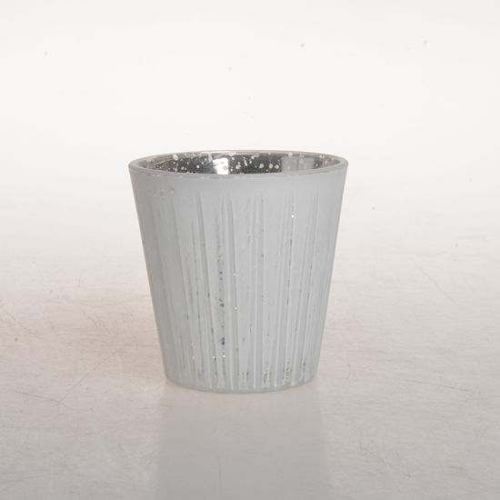 Custom Vintage Small Luxury Grey Color Frosted Jar Glass Candle Holder with Lid for Home Decor