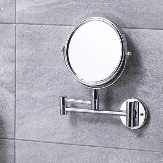 China Customization Bathroom Double, Telescoping 5x Magnified Makeup Mirror