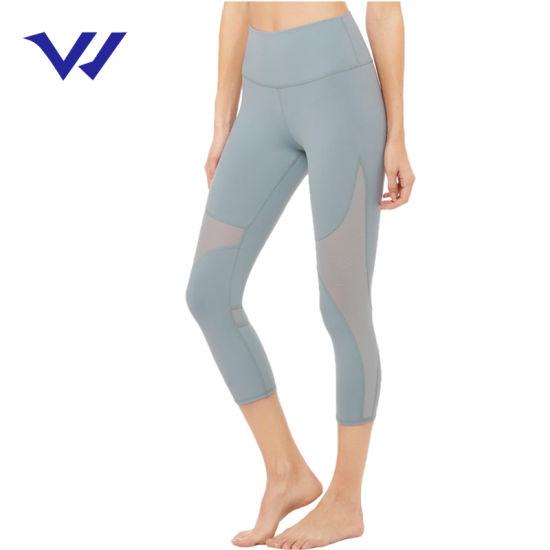OEM Custom Wholesale High Waisted Workout Yoga Polyester Leggings for Women High Waisted Active Leggings