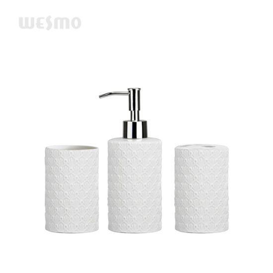 Embossment Porcelain Bathroom Set