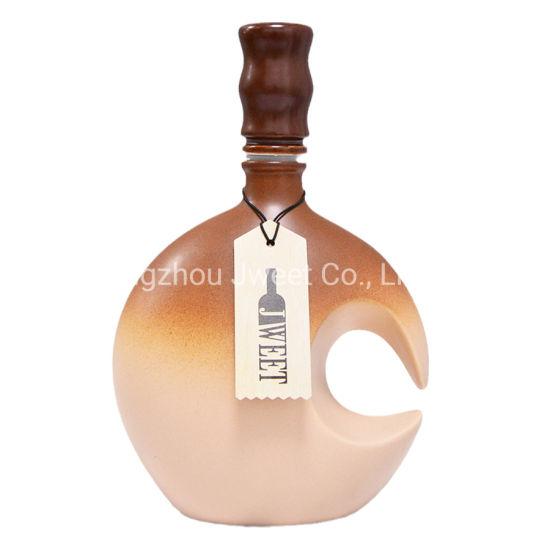 Custom 500 Ml Gin Porcelain Ceramic Bottle
