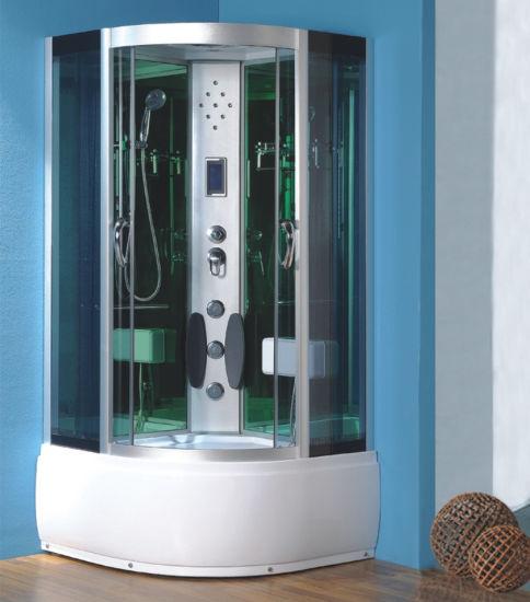 Wholesale Price Outdoor Corner Bath Steam Round Sliding Shower Room Manufacture 90*90