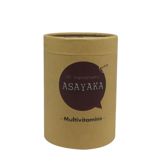 Biodegradable Brown Kraft Round Cylinder Tube Box for T-Shirt/Clothes