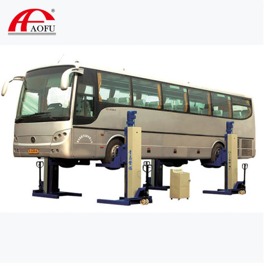Arranty 18 Months Free Parts Four Post Mobile Column Truck Lift with CE W