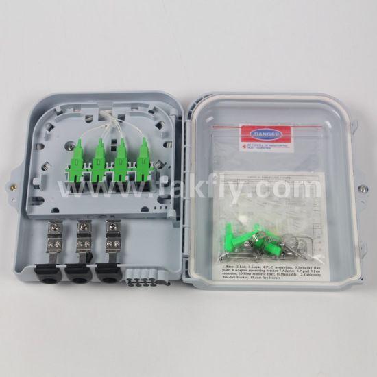 FTTH Waterproof IP65 8 Ports Fiber Optic Termination Box