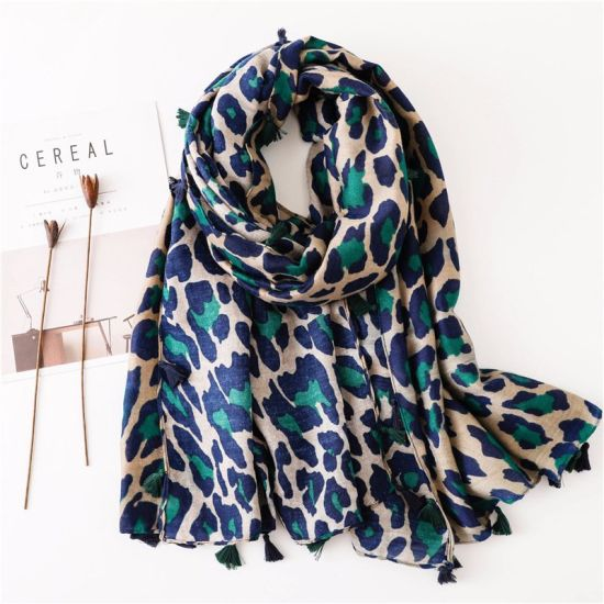 New Women Fashion Scarves Accessories Leopard Point Printed Long Lightweight Scarf Shawl
