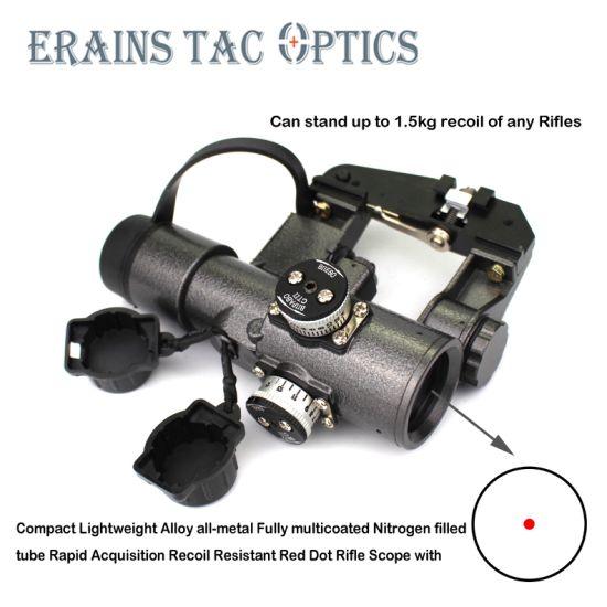 Svd Dragunov Compact 1X30 Gun Collimator Sight Red DOT Sight Tigr Sks Style  Side Mount Cqb Optical Rifle Scope