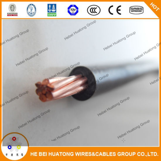 PVC Cover Copper Wire Thw/Tw AWG 14 12 10 8 6 Solid/Stranded Electrical Cable pictures & photos