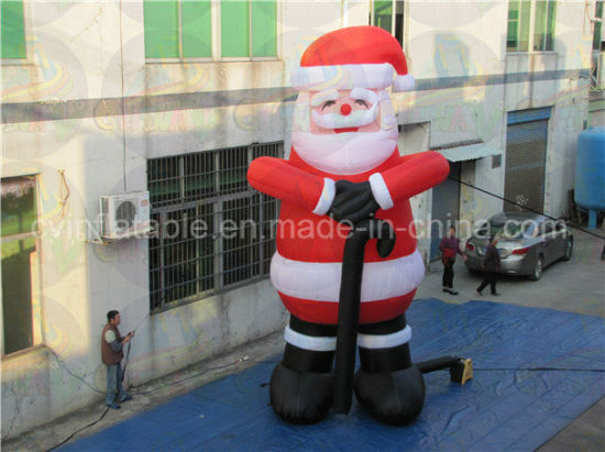 lowes christmas inflatable decoration santa claus with cheap price