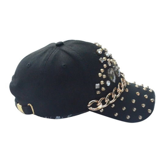 Custom Promotional Cap High Quality Black 6 Panel Cotton Twill Fashion Baseball Cap pictures & photos
