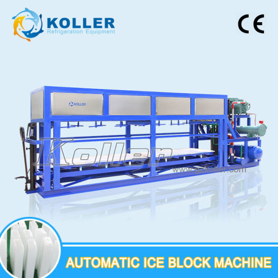 5000kgs Block Ice Making Machine with Aluminum Plate and PLC Control for Food Plant