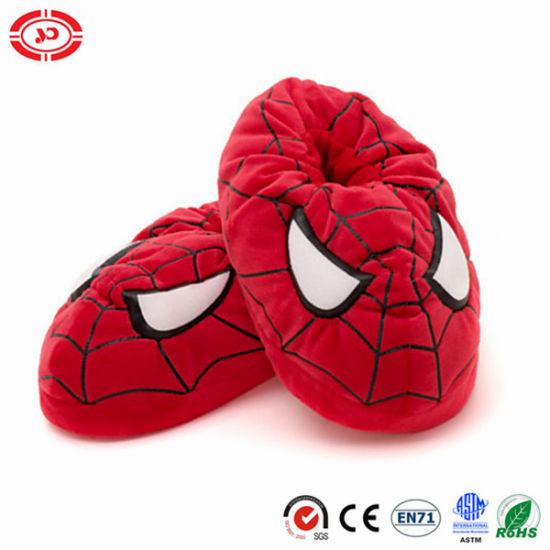 159e95364b6 China Spider Red Man Plush Kids Soft Warm Slippers - China Women ...