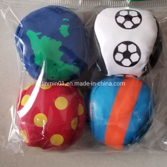 PP Filling PVC Kids Toy Juggling Balls with Printing