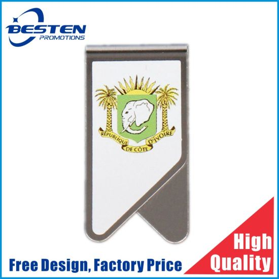 OEM Design 3D Cartoon Soft PVC Metal Bookmark Paper Clip for Gifts