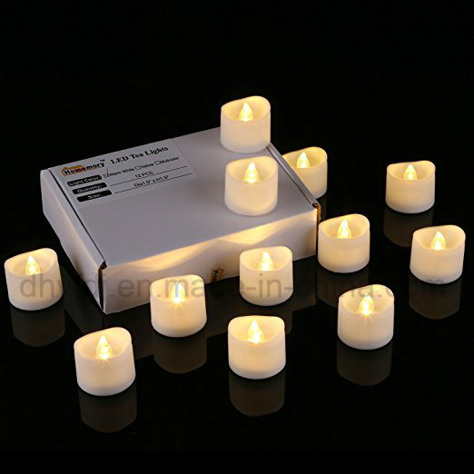 LED Tea Lights - Warm Yellow Battery Operated Flameless Candles Realistic Unscented LED Candles - for Parties, Votives, Tealight Holders, Diwali, Halloween pictures & photos