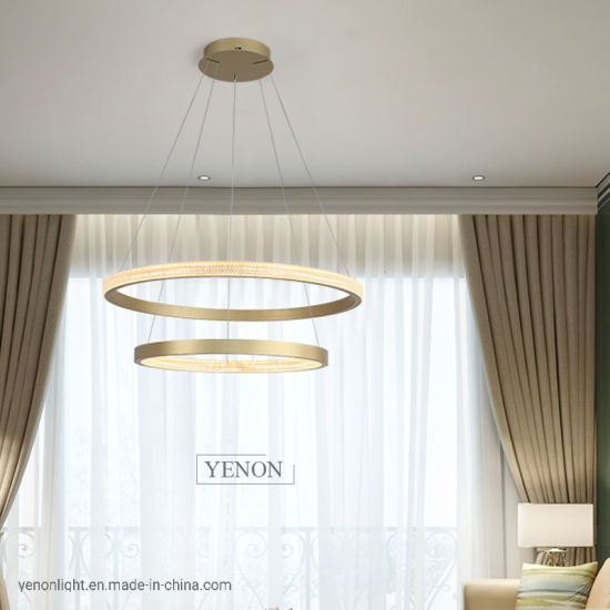 Brass Pendant Lamp Copper Chandelier Crystal modern Light