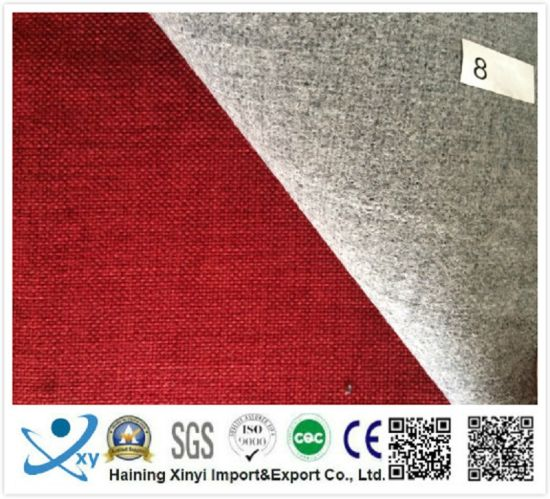 Polyester Material Classic Plain Linen Fabric for Sofas and Upholstery pictures & photos