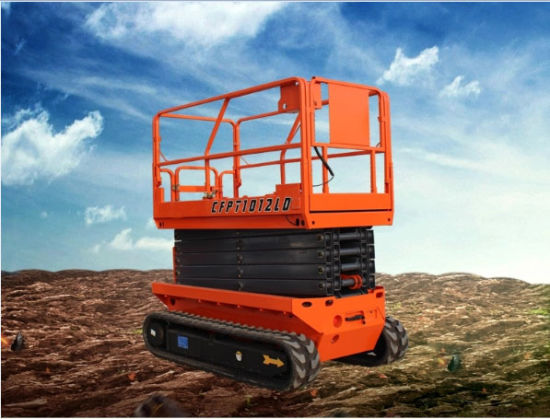 Cheap Price Indoor Outdoor Mobile Small Electric Scissor Lift with Rubber Track