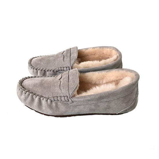 dffc0c1e2d9 China Women′s Shearling Moccasin Slippers - China Wool Moccasin ...