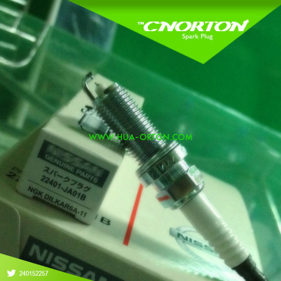 Ngk Spark Plug for Nissan 22401-Ja01b Dilkar6a11 pictures & photos