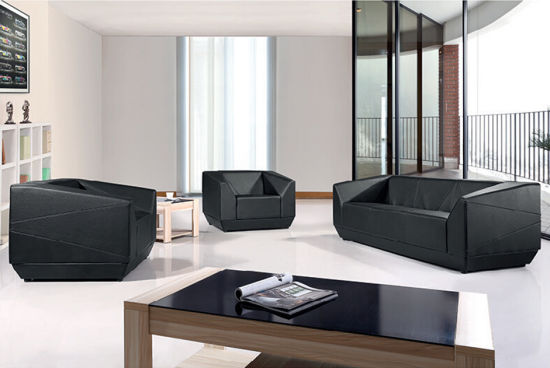 Black Modern Home Furniture Sectional Leather Living Room Sofa pictures & photos