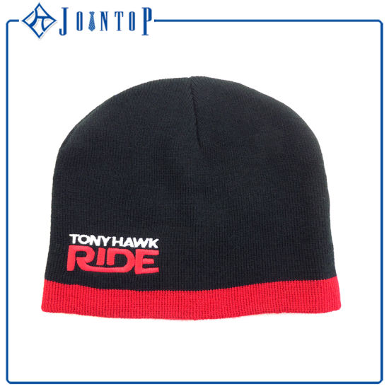 599bce36bd2 China Acrylic Custom Knit POM Beanie Hat Wholesale - China Hat Black ...