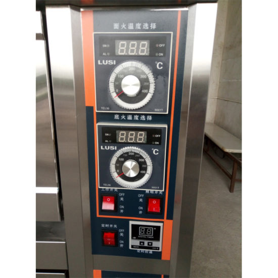 Factory Price Baking Machine Equipment Deck Pizza Oven for Bakery with 2decks 4trays pictures & photos