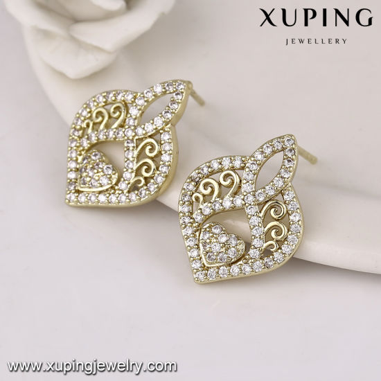 63109 Luxury Fashion Jewelry 14k Gold Plated Zircon King Wedding Set pictures & photos