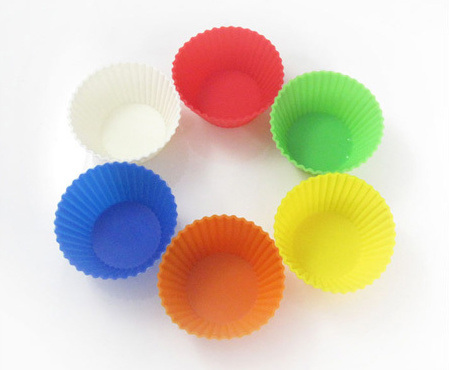 Colorful Bakeware Kitchen Silicone Cake Cups pictures & photos
