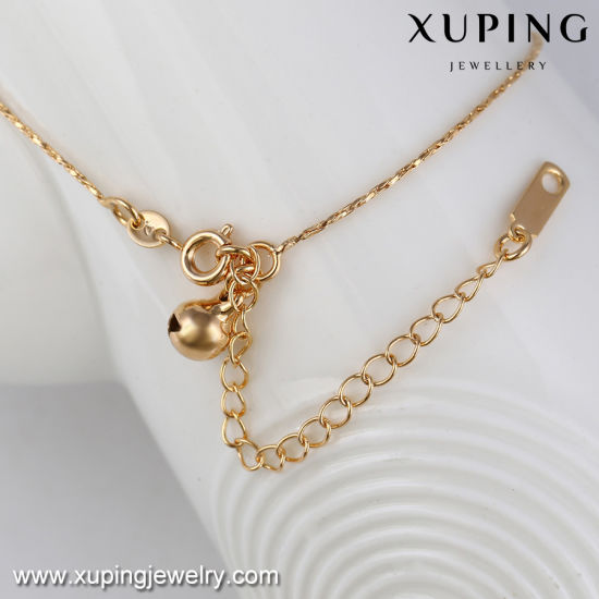 73811 Fashion Jewelry Gold Alloy Heart Design Simple Anklet Without Stone pictures & photos