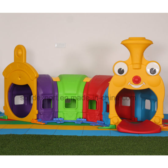 China Indoor Play Children Plastic Slide Kids Climbing Toys Tunnel ...