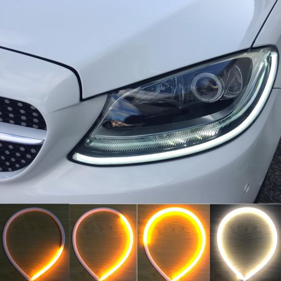 60cm LED Light Strips Switchback Red Amber Sequential Flexible DRL Turn Signal