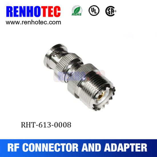 Straight Coaxial Adapter BNC Male to UHF Female So239