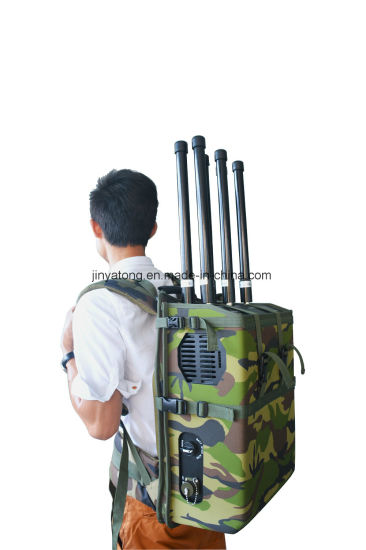 Drone Jammer 6 Channels 90W GPS 5.8g WiFi Backpack Jammer to 200m