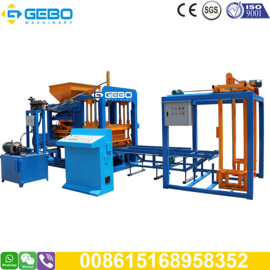Qt4-18 Automatic Hollow Hydraulic Vibratio Cement Concrete Standard Construction Block Brick Making Machine in Zimbabwe and Botswana