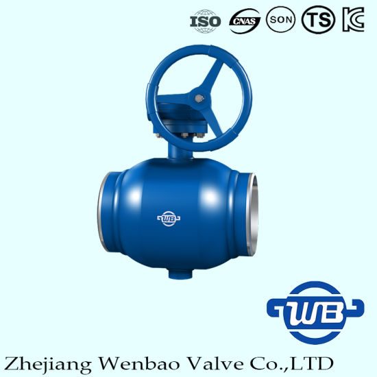 Fully Welded Trunnion Mount Ball Valve with Gear for Industry pictures & photos