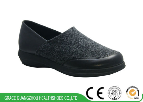 Comfort Shoes Casual Shoes Leisure Shoes Black Leather Shoes pictures & photos