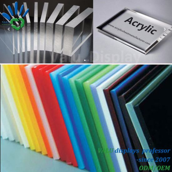 China 1220mm X 2440mm (2mm to 30mm thickness) Clear and Colors Cast ...
