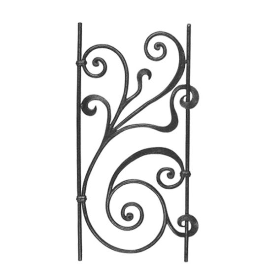 Decorative Forged Iron Stair Panel