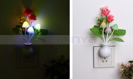 Multi Shapes Mini LED Light Sensor Wall Lamp Night Light