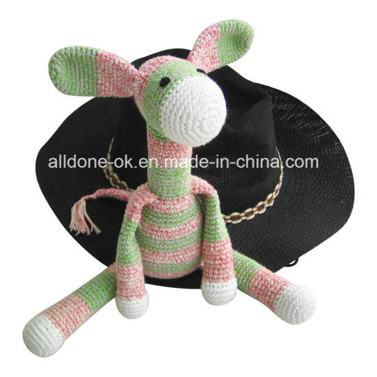 Hot Sale Hand Crochet Monkey Toy Doll for Baby Gift pictures & photos