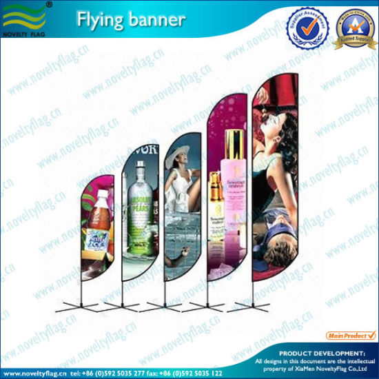 Wholesales Single/Double Sided Beach Flag/Feather Flag (M-NF04F06072) pictures & photos