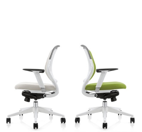 Swivel Lifitng Office Chair with Injection Foam PU Castor Mesh Fabric