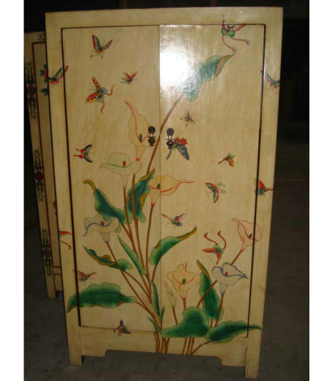 Antique Furniture Hand Painting Wooden Cabinet Lwa306