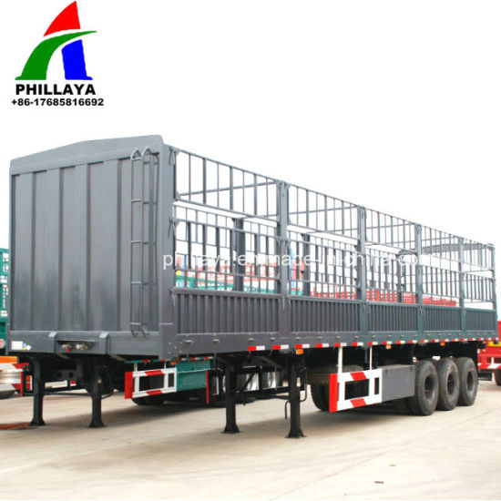 Truck Trailer / Bulk Transport Box Trailer with Cage pictures & photos