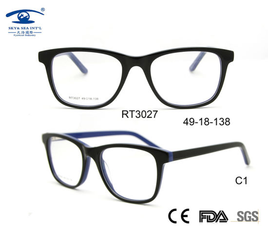 746a1cfd2bd1 New Model Acetate Eyeglasses Frames Optical Glass Stock (RT3027) pictures    photos