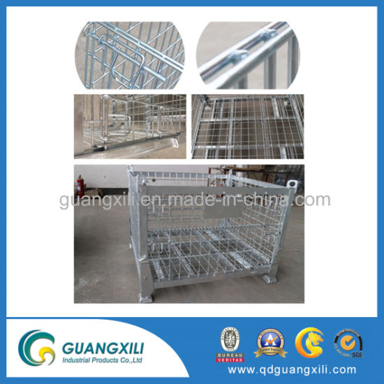 Metal Box 1200X1000 Wire Mesh Pallet Cage Roll Folding Box